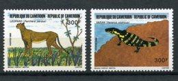 Cameroun, 1986, Iguana, Cheetah, Endangered Animals, Fauna, MNH, Michel 1133-1134 - Kamerun (1960-...)