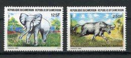 Cameroun, 1991, Elephant, Buffalo, Animals, Fauna, MNH, Michel 1181-1182 - Kamerun (1960-...)