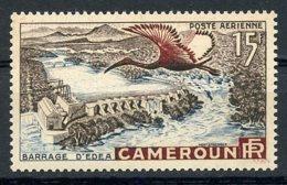 Cameroun, 1953, Bird, Dam, River, MNH, Michel 303 - Cameroun (1915-1959)