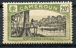 Cameroun, 1925, Lumberjack, Postage Due, 20 C., MH, Michel 6 - Cameroun (1915-1959)