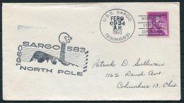 1960 USA U.S.S. SARGO, North Pole Under-ice Exploration, Polar Ship Cover - Polar Ships & Icebreakers