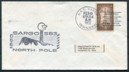 1960 USA U.S.S. SARGO, North Pole Under-ice Exploration, Polar Bear Ship Cover - Polar Ships & Icebreakers