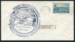 1960 USA  Nome Alaska First Submerged Northwest Passage Polar Transit Ship Cover. USS Seadragon - Polar Ships & Icebreakers