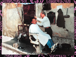 MACAU 90'S STREET BARBER POST CARD, POST OFFICE ISSUE - Chine