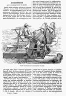 MOISSONNEUSE LIANT AUTOMATIQUEMENT Les GERBES   1878 - Scienze & Tecnica