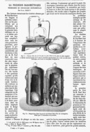 """LA PRESSION BAROMETRIQUE RECHERCHES DE PHYSIOLOGIE EXPERIMENTALE Par  """" PAUL BERT """"  1878 - Techniek"""