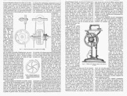 NOUVELLE PEDALE POUR LES MACHINES A COUDRE ( PEDALE MAGIQUE De M.BOURDIN )  1878 - Autres