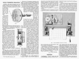 NOUVEAU THERMOMETRE ENREGISTREUR De M. REDIER    1878 - Other