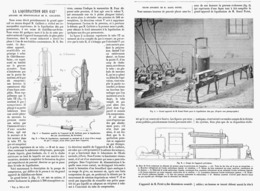 LA LIQUEFACTION DES GAZ Appareil De Demonstration De M.CAILLETET  1878 - Technical