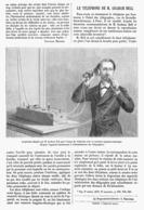 LE TELEPHONE De M. GRAHAM BELL  1878 - Techniek