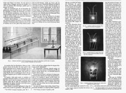 LES EFFETS DES COURANTS ELECTRIQUES De GRANDES TENSION Recherches De M. GASTON PLANTé  1878 - Techniek