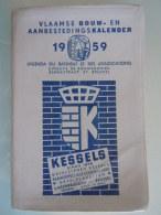 Vlaamse Bouw-en Aanbestedingskalender 1959 Uitgave De Bouwkroniek Brussel Agenda Du Batiment Et Des Adjudications - Practical