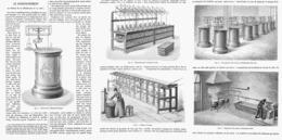 LE CONDITIONNEMENT - LE TIRAGE Et Le DECREUSAGE De La SOIE  1878 - Technical