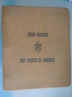 Classeur TROOP RECORDS BOY SCOUTS OF AMERICA  Avec 11 Intercalaire & 2 Feuilles Cash Record Non Utilsé - Scoutisme