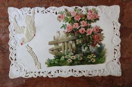 CARTE FANTAISIE - COLOMBES - CARTE GAUFREE - ANNIVERSAIRE - Anniversaire