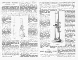 LAMPE ELECTRIQUE à INCANDESDCENCE Fonctionnant à L'AIR LIBRE   1878 - Technical