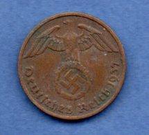 Allemagne -  2 Reichspfennig  -  1937 F  -- Km # 90   -  état  TTB - [ 4] 1933-1945 : Third Reich