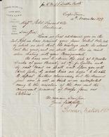 South Africa, Cape Town, Thomson, Watson & Co,, About Brandy -> Bordeaux 1879 - Factures & Documents Commerciaux