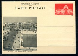 4266 - FRANKREICH - Ganzsachen-Postkarte P 61 Ungebraucht - PARIS - Pont Et Place De La Concorde - Cartoline Postali E Su Commissione Privata TSC (ante 1995)