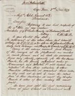 South Africa, Cape Town, Thomson, Watson & Co,, About Cognac & Claret -> Bordeaux 1879 - Factures & Documents Commerciaux