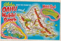 8AK3532 Aloha ....FROM THE ISLAND OF OAHU AND WAIKIKI BEACH 1973  2 SCANS - Oahu