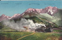 74 SAINT GERVAIS LE FAYET TRAMWAY DU MONT BLANC COL DE VOZA LES HOUCHES CARTE COLORISEE ED FAURAZ 1334 - Saint-Gervais-les-Bains