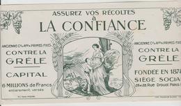 """BUVARD PUBLICITAIRE - Assurance """"LA CONFIANCE"""" 26/28 Rue Drouot PARIS 9ème - Bank & Insurance"""