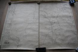 Plan De Ghlin Par P.C. POPP, Atlas Cadastral Arrondissement De Mons, En Deux Parties - Topographische Kaarten