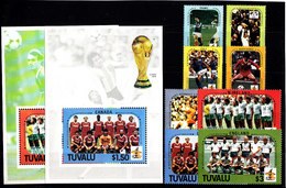Soccer World Cup 1986 - TUVALU - 2 S/S+Set MNH - World Cup