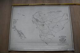 Plan De Ciply Par P.C. POPP, Atlas Cadastral Arrondissement De Mons - Topographische Kaarten