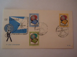 Republiek Congo Republique 1962 FDC Anti-malaria Contre Le Paludisme Mug 462-464 - Insectes