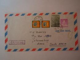 Korea Coree Du Sud 1985 Letrre Express Pour Afrique Du Sud Serie Courante - Corée Du Sud