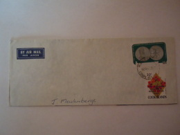 """Cook 1973 Letrre Cover (part)  Fleurs  """"Tenth Anniversary Cessation Of Nuclear Testing Treaty Monnaie Yv 344 336 - Cook"""