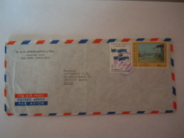 Costa Rica  1971 Lettre Cover To Basel Suisse Drapeau Des Provinces Unies  & Peinture T. Quiros Yv 517 505 - Costa Rica