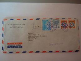 Costa Rica  1974 Certificado Exterior Lettre Cover To Basel Suisse Timbres J.O. Mexico Tir Yv 478 - Costa Rica