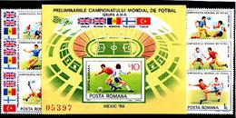 Soccer World Cup 1986 - ROMANA - S/S Imp.+Set MNH - World Cup