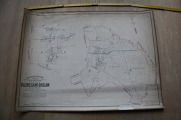 Plan De Villers-Saint-Ghislain Par P.C. POPP, Atlas Cadastral Arrondissement De Mons Canton De Roeulx - Topographische Kaarten