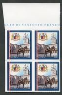 ITALIA 2018 - QUARTINA - 150° ANNIVERSARIO ISTITUZIONE REGGIMENTO CORAZZIERI - MNH**- 283 - 6. 1946-.. Republik
