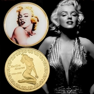 1 Pièce Plaquée OR ( GOLD Plated Coin ) - Marilyn Monroe ( Ref 2 ) - Monedas