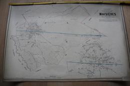 Plan De Maisières Par P.C. POPP, Atlas Cadastral Arrondissement De Mons - Topographische Kaarten
