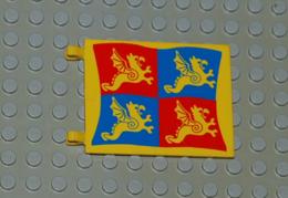 Lego Drapeau Chateau 6 X 4 Avec Motif Dragon Bleu Et Rouge Ref 2525px5 - Lego Technic
