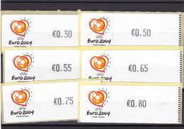 Portugal   -  11  -Etiquetas -euro 2004 Novas - Annullamenti Meccanici (pubblicitari)