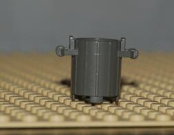 Lego Conteneur Poubelle Gris Fonce Avec 2 Poignees Ref 2439 - Lego Technic