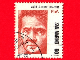 SAN MARINO - Usato - 1982 - Pionieri Della Scienza - 1ª Emissione - Marie S. Curie  - 60 - Gebraucht