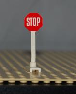 Lego Panneau De Signialisation Stop Ref 739p01 - Lego Technic