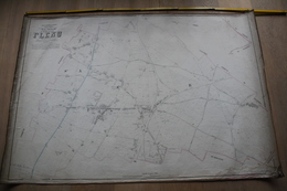 Plan De Flénu Par P.C. POPP, Atlas Cadastral Arrondissement De Mons Canton De Boussu - Topographische Kaarten