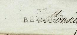 """1807 LAC Double Sign. Maçonnique MARQUE POSTALE """"33 BEZIERS"""" POUR TOULOUSE - 1801-1848: Voorlopers XIX"""