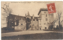 EXCURSION EN FRANCHE-COMTE . CHATEAU DE RANS . CARTE AFFR SUR RECTO - France