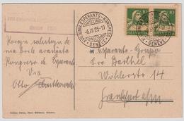 "1925, "" Esperanto "" Kongreß So. Stp.     , #a1265 - Poststempel"
