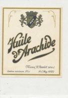 H 03 - ETIQUETTE  HUILE D'ARACHIDE  MAISON RAMLOT - Labels